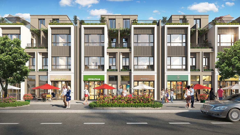 Thiết kế nhà phố thương mại mẫu 1 dự án Gem Sky World Đồng Nai