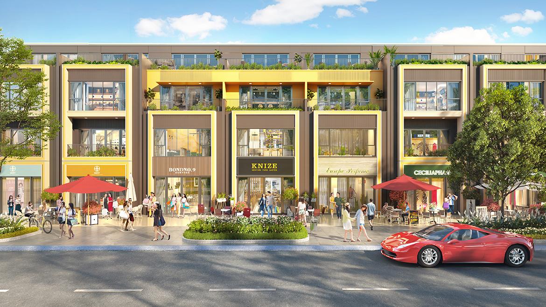 Thiết kế nhà phố thương mại mẫu 2 dự án Gem Sky World Đồng Nai