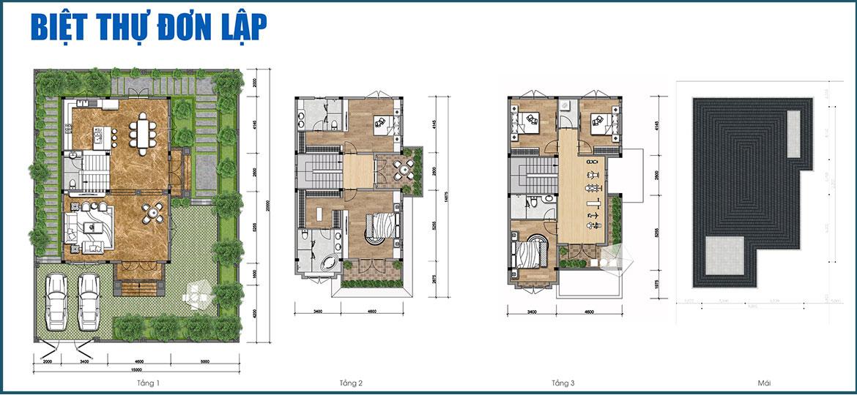 Thiết kế biệt thự đơn lập dự án Gem Sky World Long Thành Đồng Nai