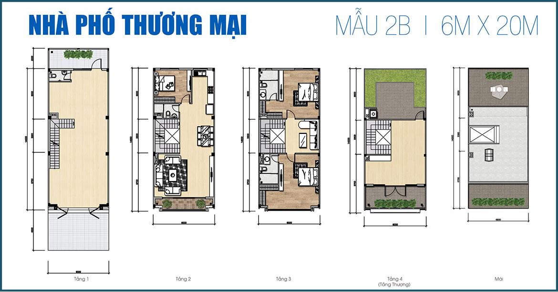 Thiết kế nhà phố thương mại dự án Gem Sky World Long Thành Đồng Nai