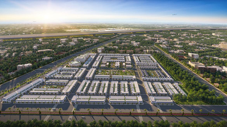 Phối cảnh tổng thể dự án đất nền nhà phố biệt thự Century City Long Thành Đồng Nai