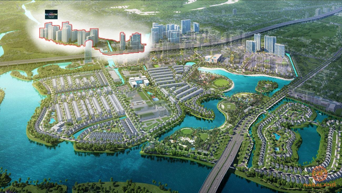 Phối cảnh tổng thể căn hộ chung cư phân khu The Rainbow dự án Vinhomes Grand Park Quận 9 chủ đầu tư Vingroup