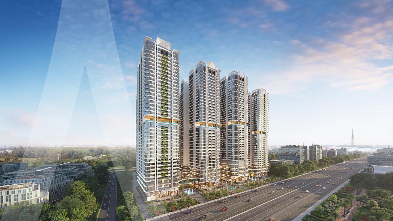 Phối cảnh tổng thể dự án căn hộ chung cư Astral City Thuận An Bình Dương