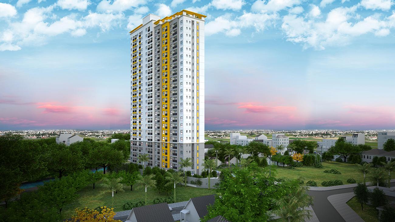 Phối cảnh tổng thể dự án căn hộ chung cư Bcons Bee Bình Dương