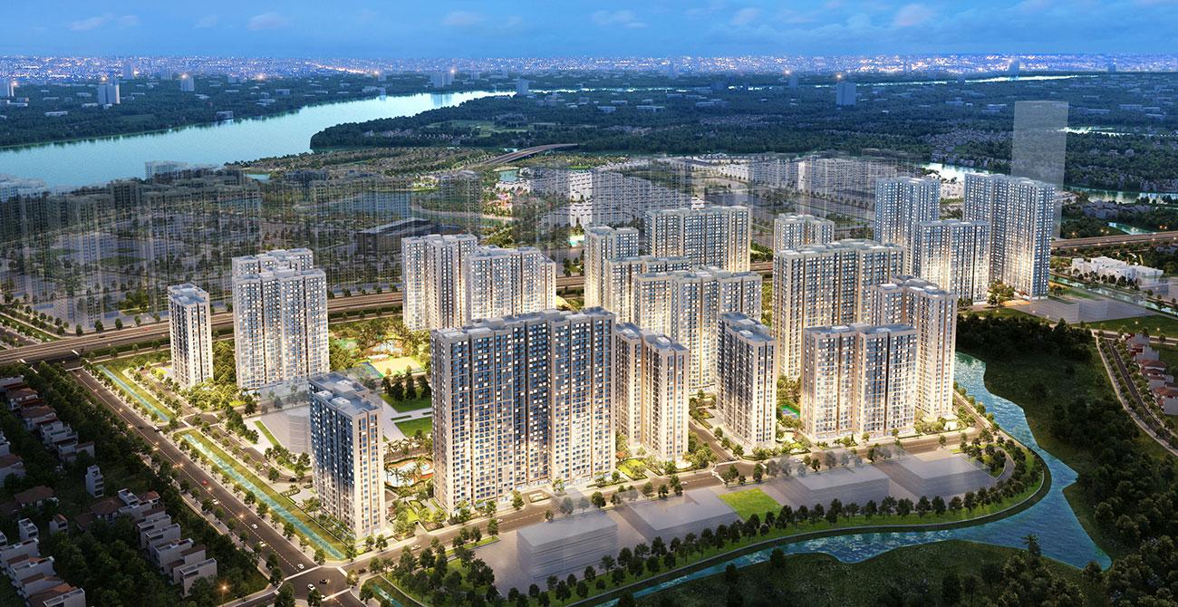 Phối cảnh căn hộ chung cư phân khu The Origami dự án Vinhomes Grand Park Quận 9 chủ đầu tư Vingroup