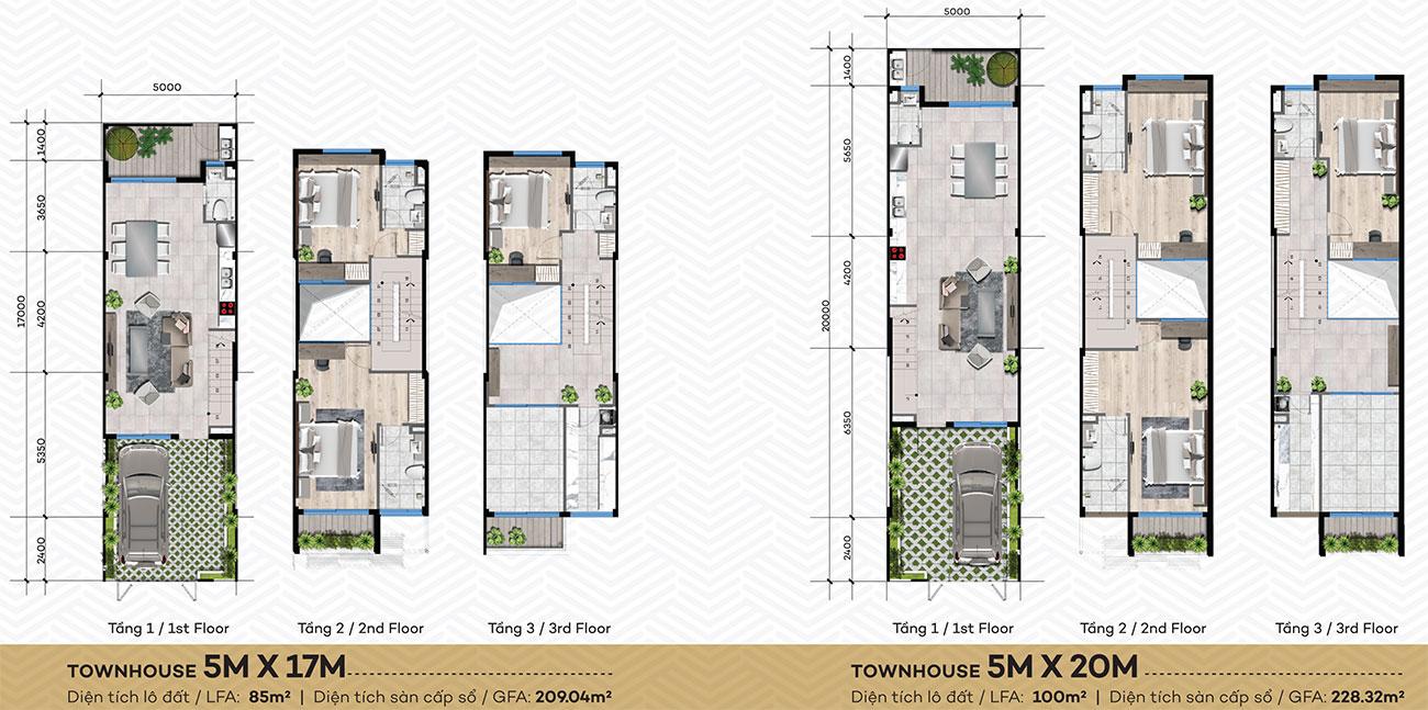 Thiết kế dự án nhà phố The Standard Central Park chủ đầu tư An Gia
