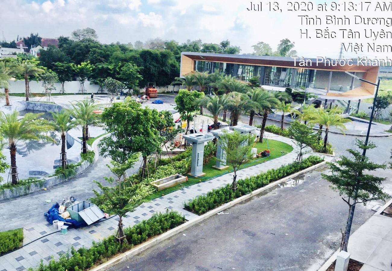 Tiến độ dự án nhà phố The Standard Tân Uyên Bình Dương CĐT An Gia tháng 07.2020