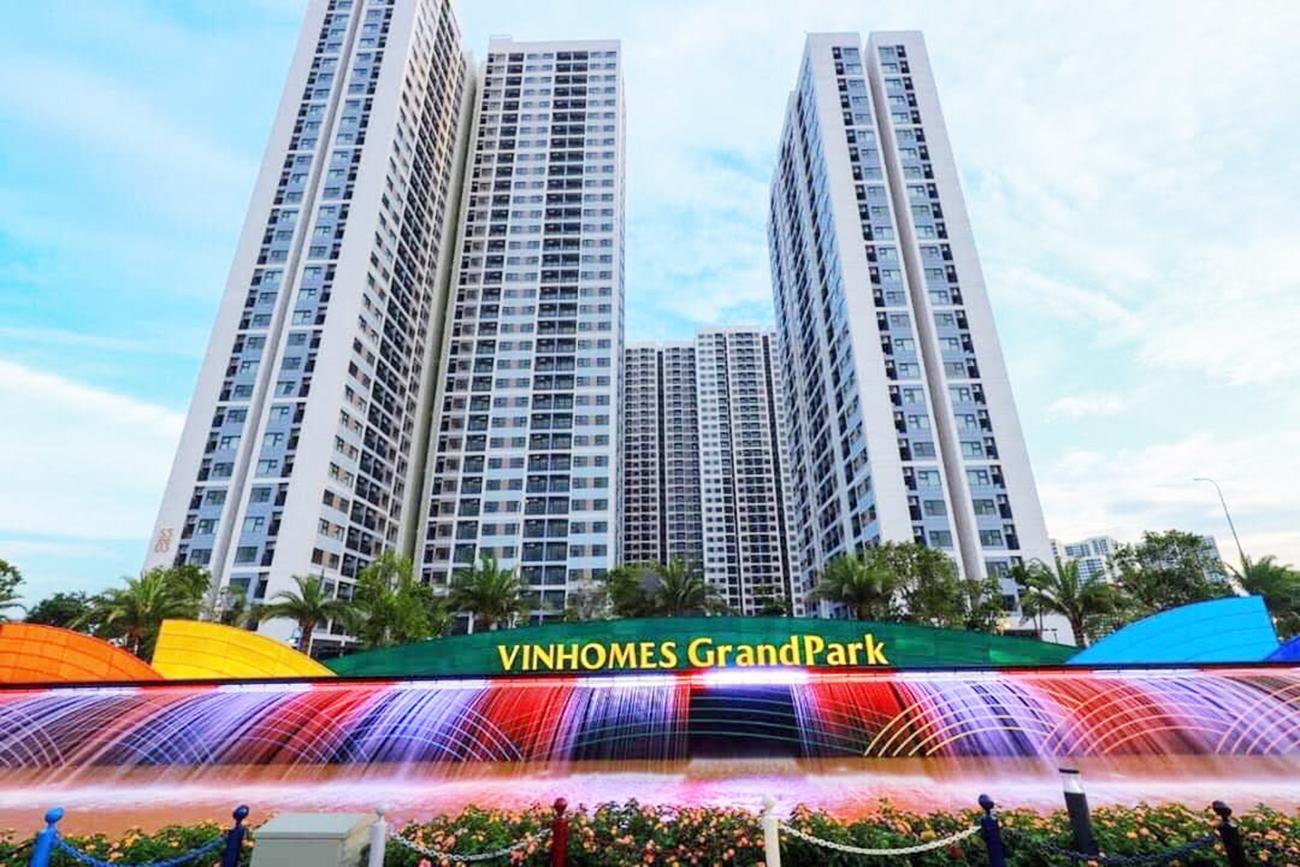 Tiến độ dự án căn hộ chung cư Vinhomes Grand Park Quận 9 chủ đầu tư VinGroup