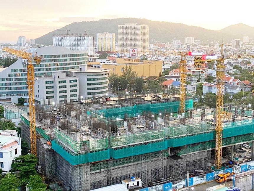 Tiến độ xây dựng dự án căn hộ The Sóng Vũng Tàu tháng 07.2020