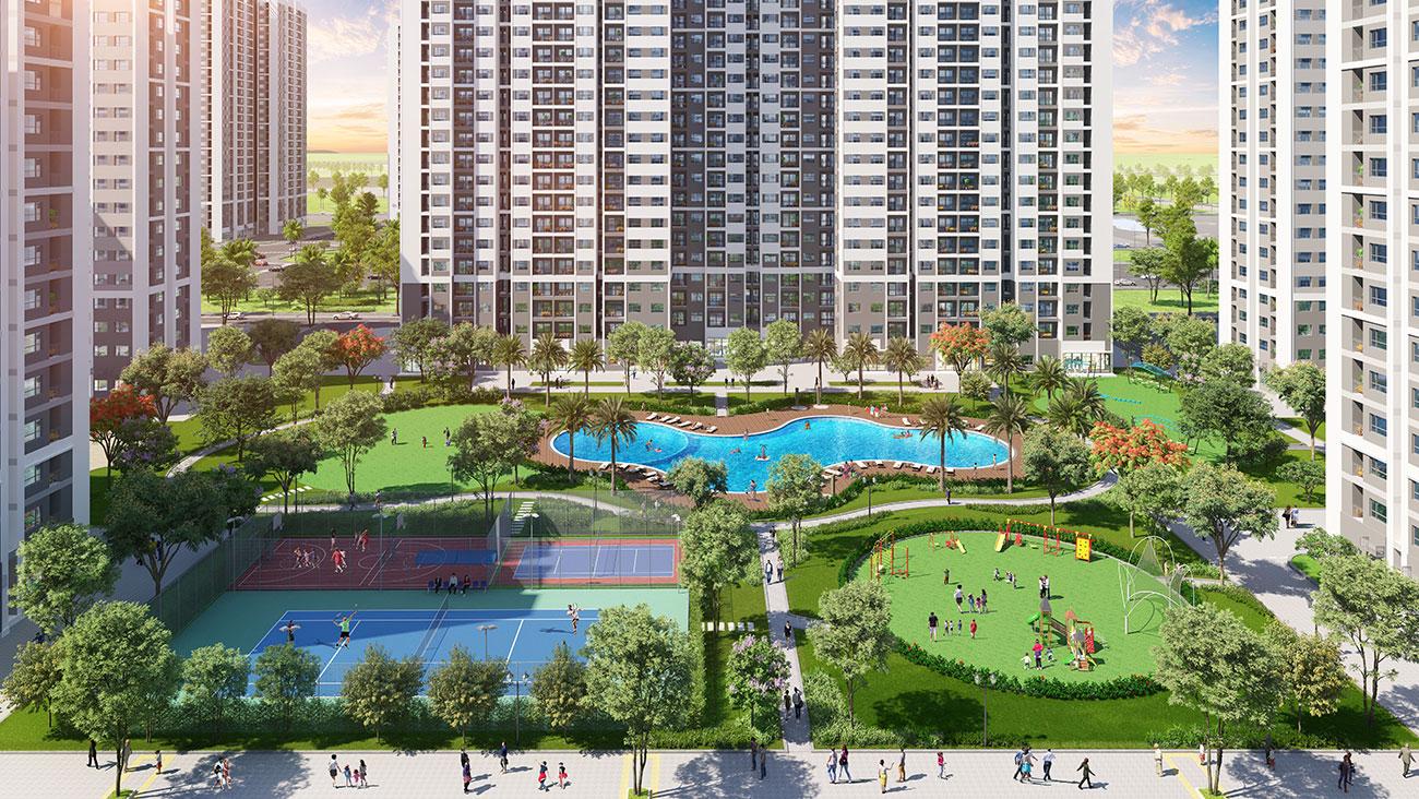 Tiện ích căn hộ chung cư phân khu The Rainbow dự án Vinhomes Grand Park Quận 9 chủ đầu tư Vingroup