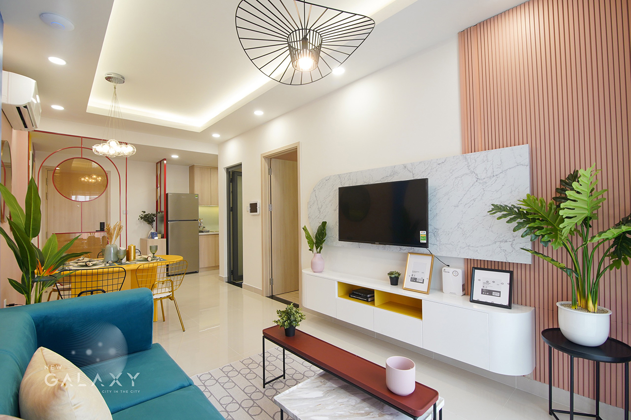 Nhà mẫu dự án căn hộ chung cư New Galaxy Dĩ An Bình Dương chủ đầu tư Hưng Thịnh