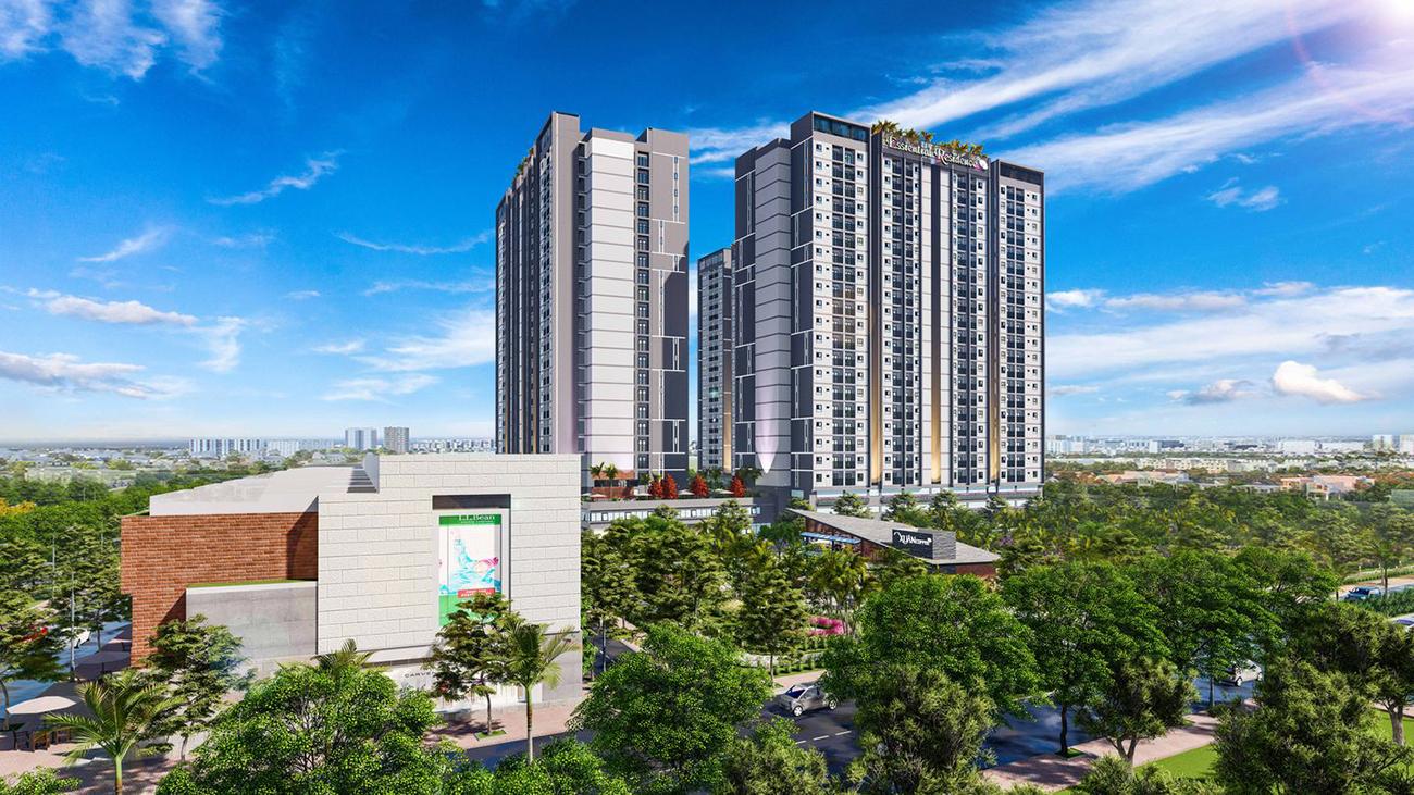 Phối cảnh tổng thể dự án căn hộ chung cư Eco Xuân Thuận An Bình Dương