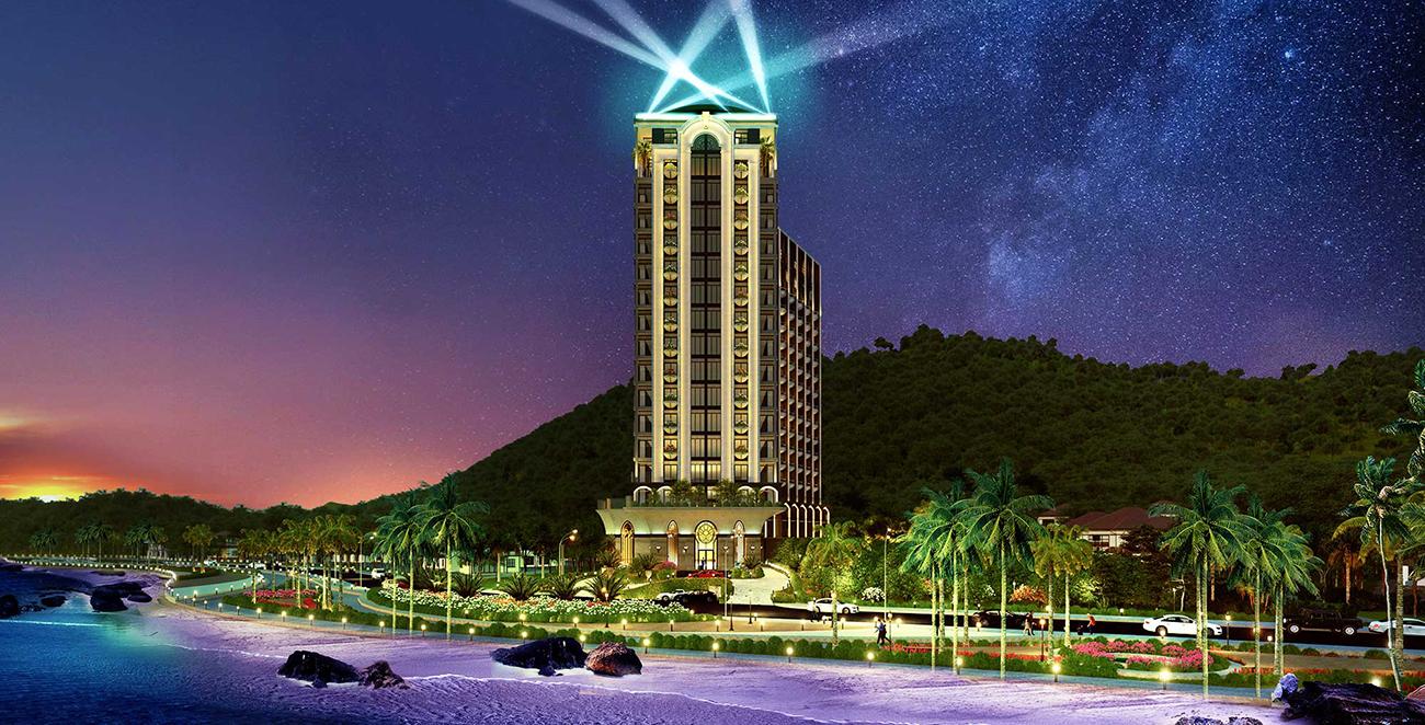 Phối cảnh tổng thể dự án căn hộ condotel Oyster Gành Hào đường Trần Phú Vũng Tàu