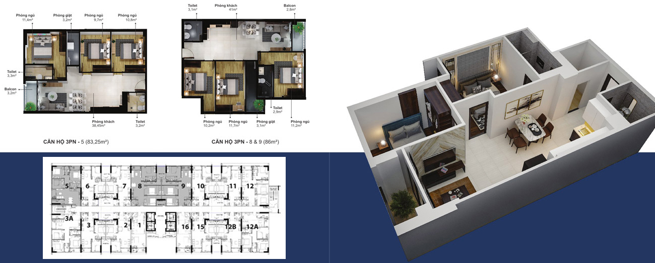 Thiết kế dự án căn hộ chung cư Eco Xuân Thuận An Bình Dương