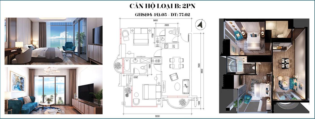 Thiết kế dự án căn hộ condotel Oyster Gành Hào đường Trần Phú Vũng Tàu