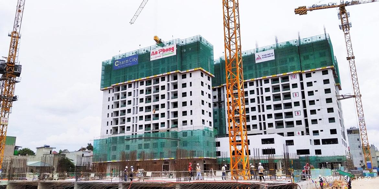 Tiến độ xây dựng dự án căn hộ Charm City Bình Dương tháng 8.2020