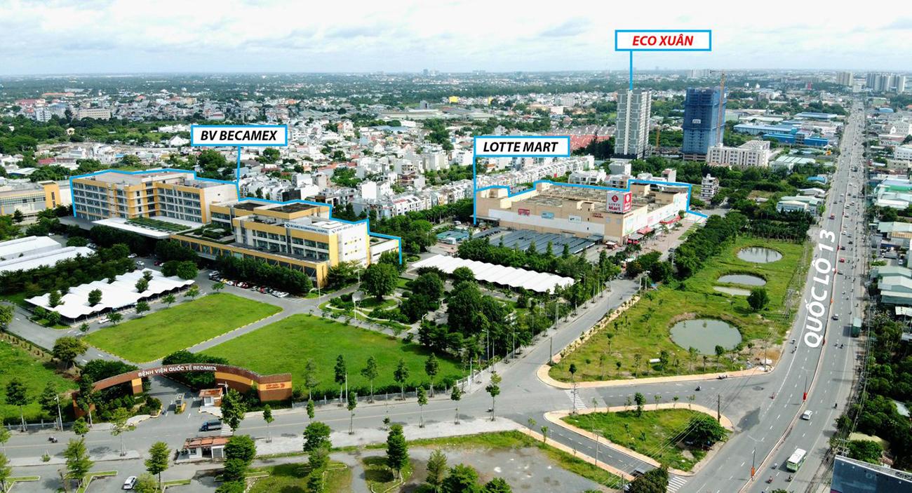 Vị trí địa chỉ dự án căn hộ chung cư Eco Xuân Thuận An Bình Dương