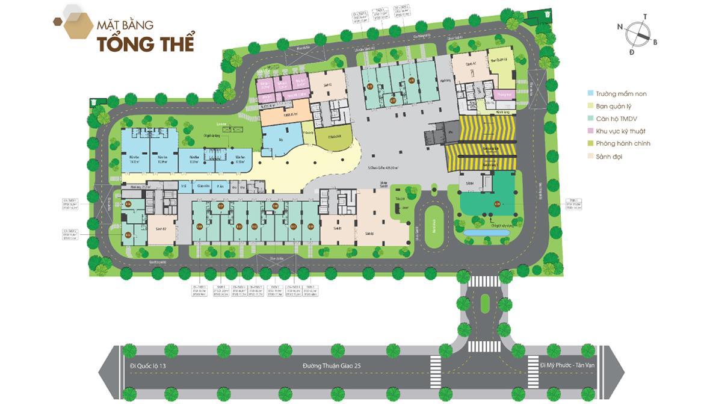 Mặt bằng tổng thể dự án căn hộ chung cư Legacy Central Bình Dương chủ đầu tư Kim Oanh Group