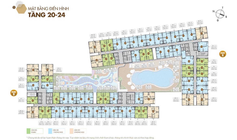 Mặt bằng dự án căn hộ chung cư Legacy Central Bình Dương chủ đầu tư Kim Oanh Group