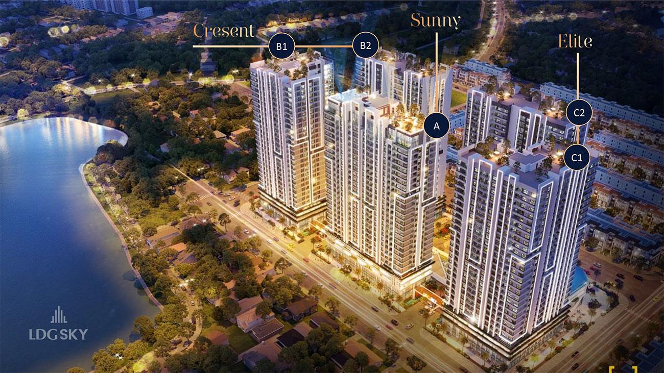 Mặt bằng dự án căn hộ chung cư LDG Sky Bình Dương chủ đầu tư LDG Group