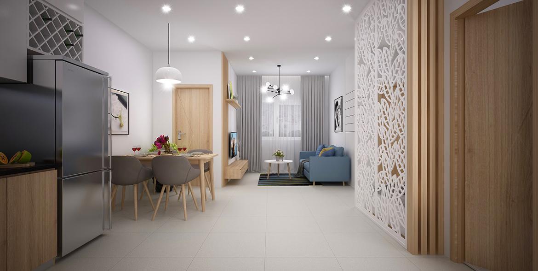 Nhà mẫu căn hộ 01 phòng ngủ dự án chung cư Legacy Central Bình Dương chủ đầu tư Kim Oanh Group
