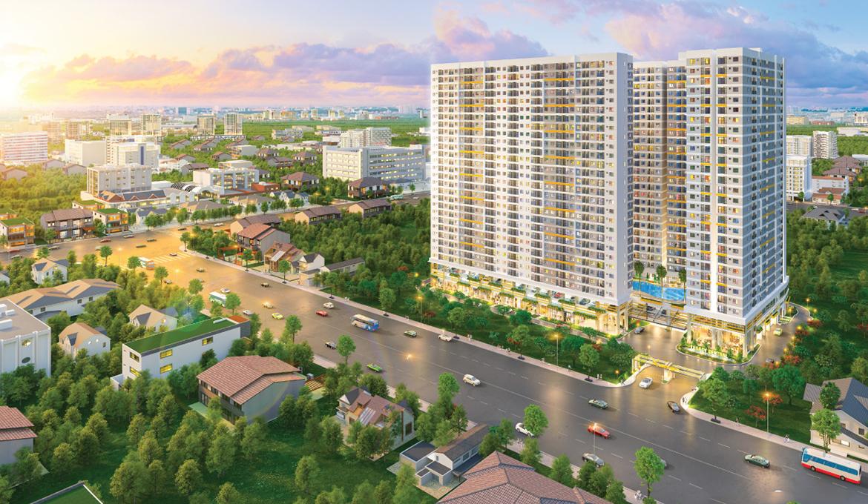 Phối cảnh tổng thể dự án căn hộ chung cư Legacy Central Bình Dương chủ đầu tư Kim Oanh Group