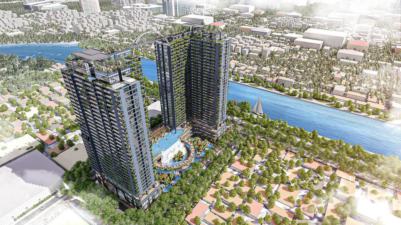 Phối cảnh dự án căn hộ chung cư sunshine Horizon quận 4 đường Tôn Thất Thuyết