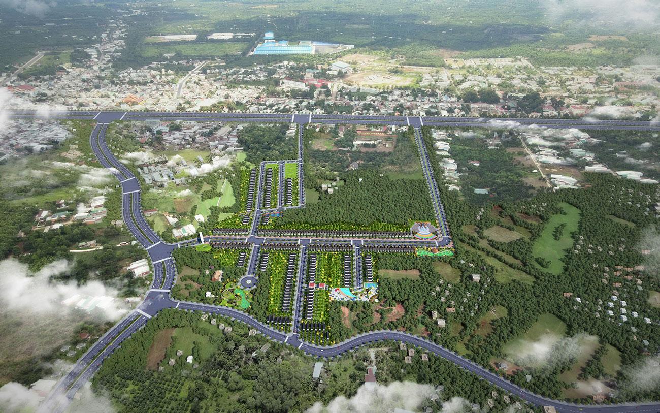 Phối cảnh tổng thể dự án đất nền nhà phố Tân Phú Garden Đồng Nai