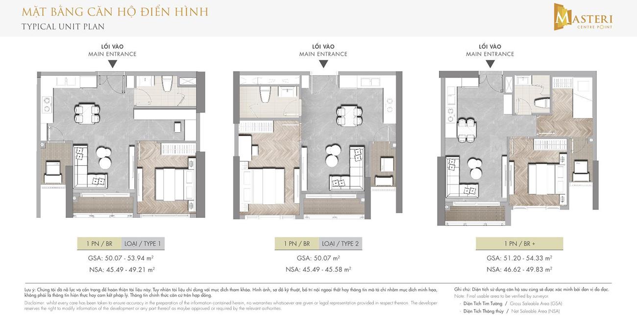 Thiết kế dự án căn hộ chung cư Masteri Centre Point Quận 9 chủ đầu tư Masterise Homes