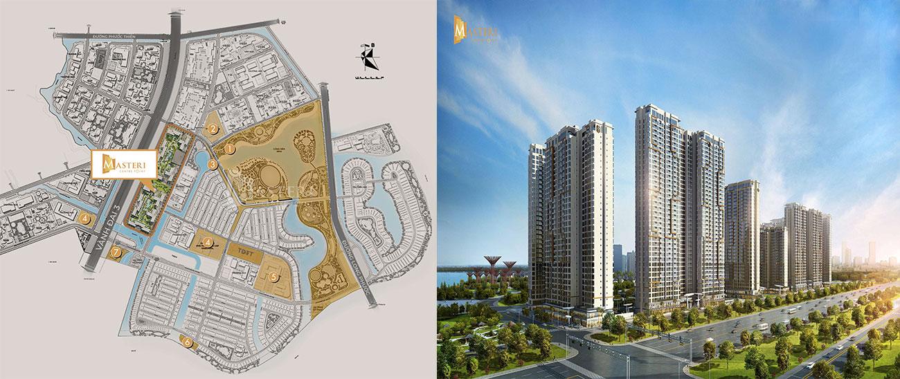 Vị trí địa chỉ dự án căn hộ chung cư Masteri Centre Point Quận 9 chủ đầu tư Masterise Homes