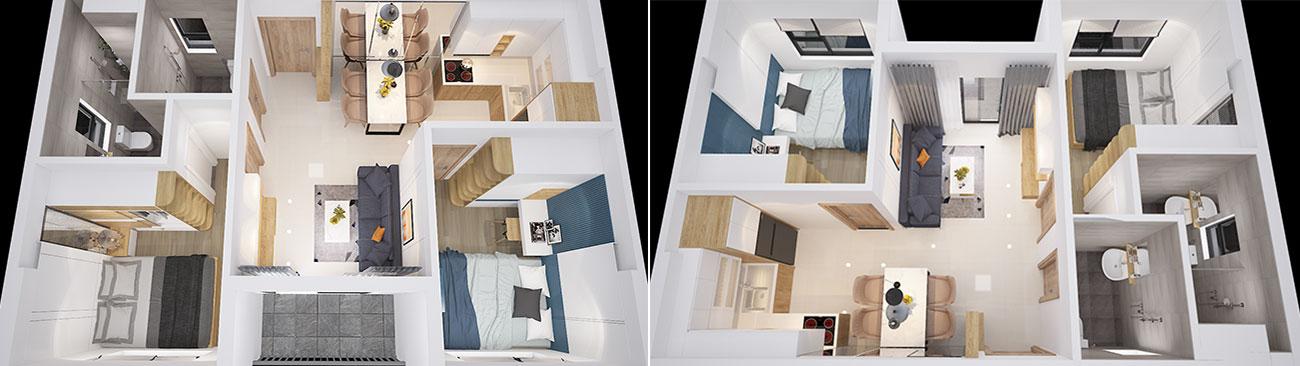 Nhà mẫu dự án căn hộ chung cư Bcons Plaza Bình Dương