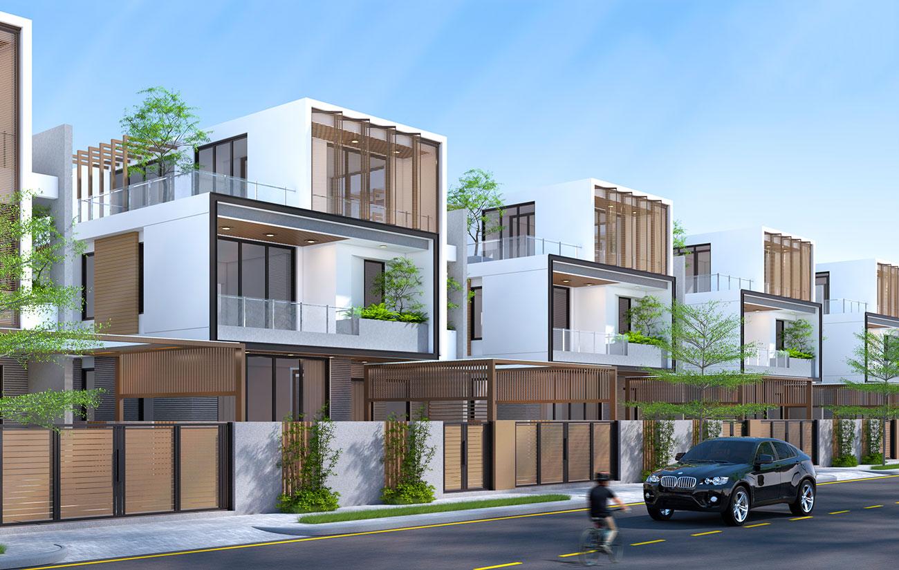 Phối cảnh tổng thể dự án nhà phố biệt thự căn hộ chung cư Takara Residence Thủ Dầu Một Bình Dương