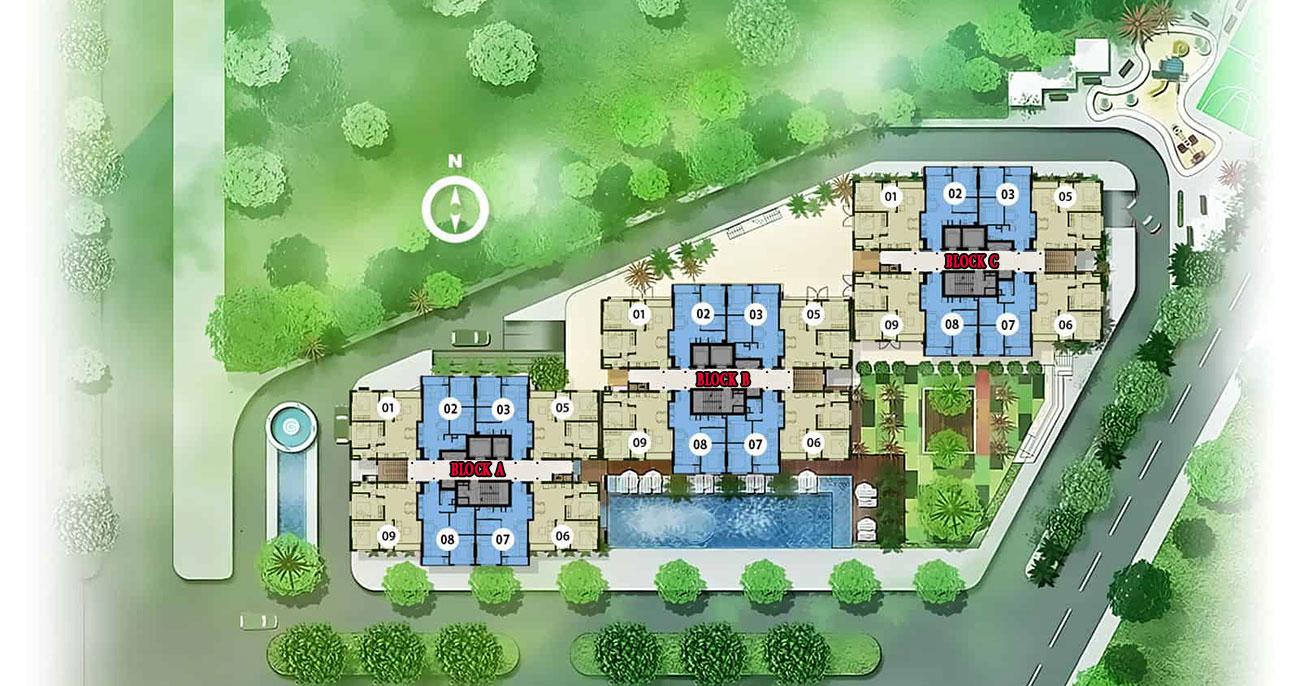 Mặt bằng dự án căn hộ chung cư The Star Bình Tân