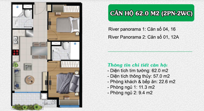 Thiết kế chi tiết căn hộ chung cư dự án River Panorama Quận 7