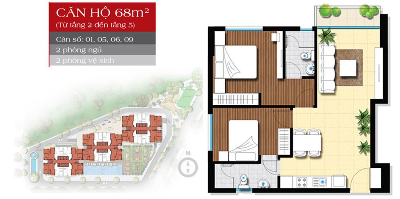 Thiết kế dự án căn hộ chung cư The Star Bình Tân