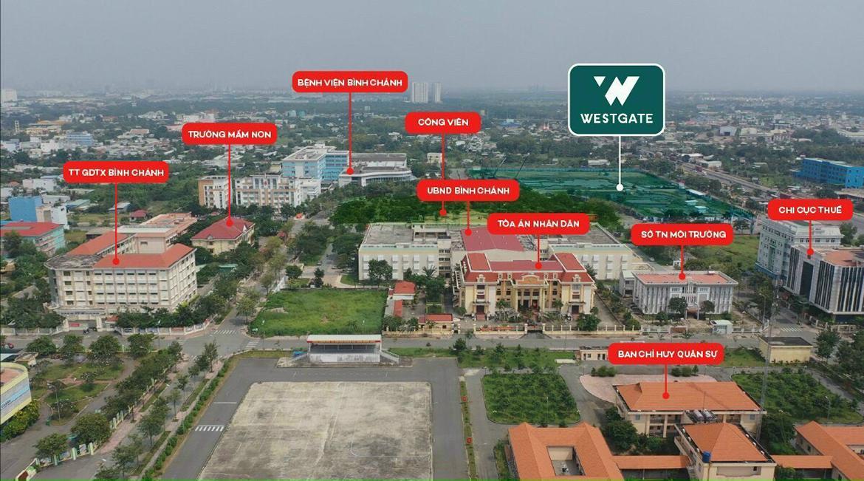 Vị trí thực tế dự án căn hộ chung cư West Gate Bình Chánh chủ đầu tư An Gia