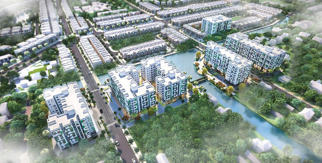 Phối cảnh tổng thể dự án căn hộ chung cư Dragon E-Home Quận 9 chủ đầu tư Phú Long