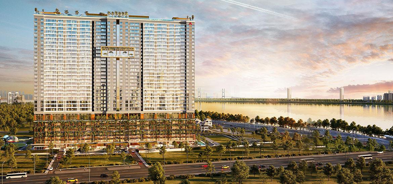 Phối cảnh tổng thể dự án căn hộ chung cư The A Quận 7 đường Hoàng Quốc Việt chủ đầu tư An Gia
