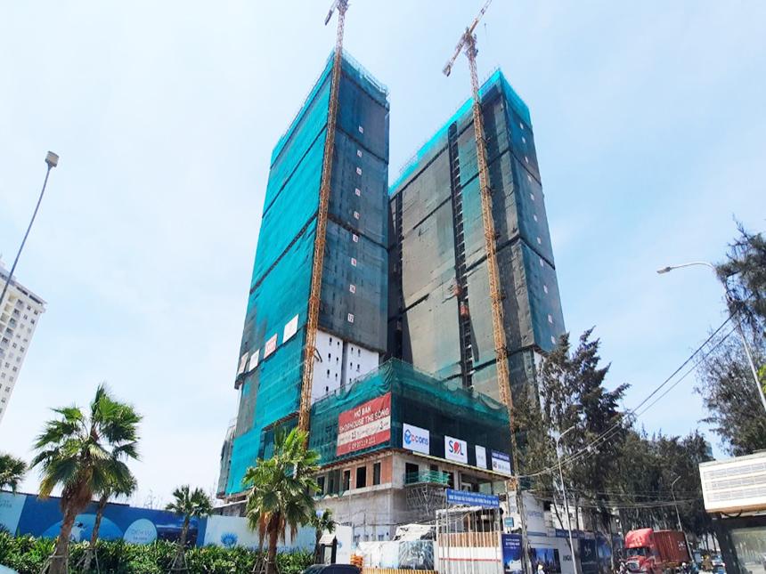 Tiến độ xây dựng dự án căn hộ The Sóng Vũng Tàu tháng 04.2021