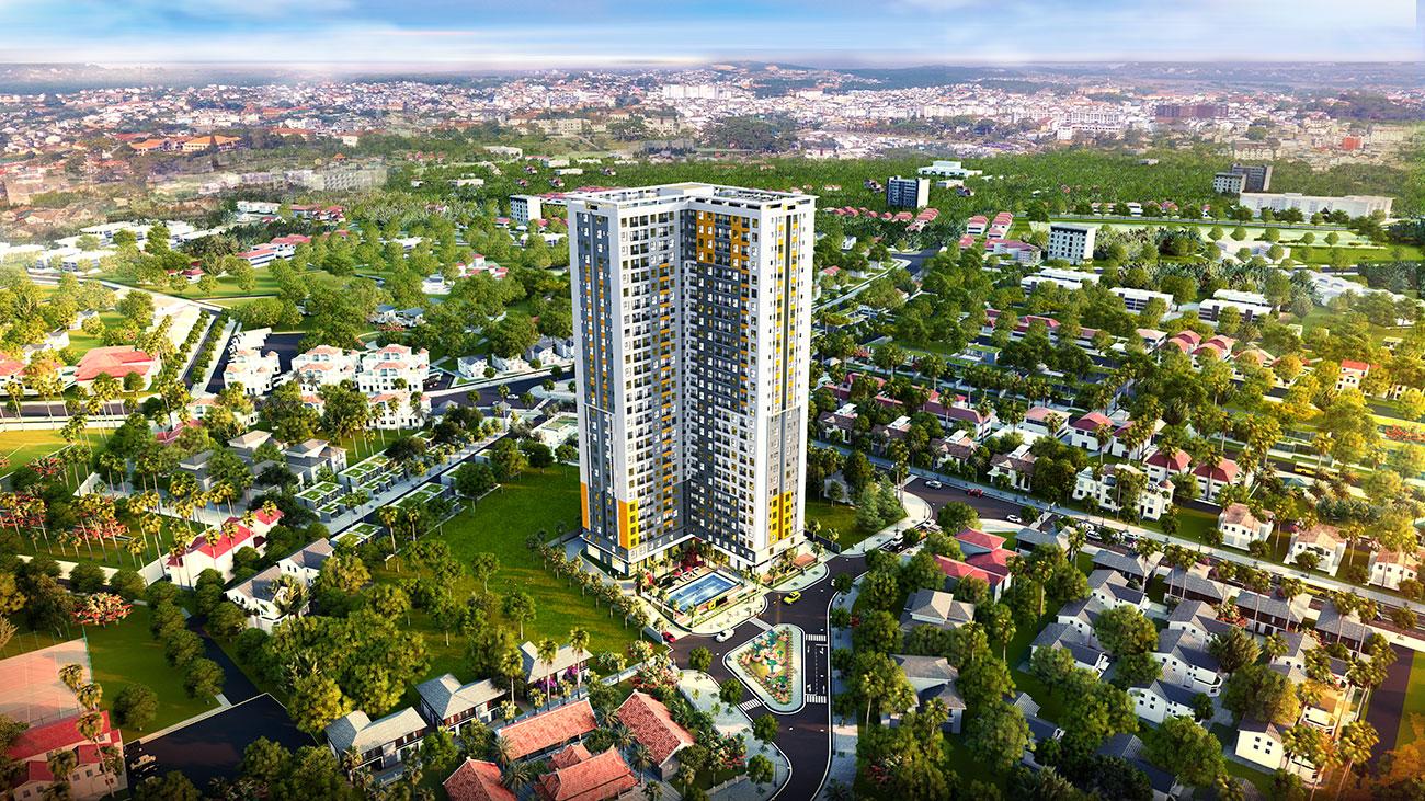 Phối cảnh tổng thể dự án căn hộ chung cư Bcons Sala Bình Dương