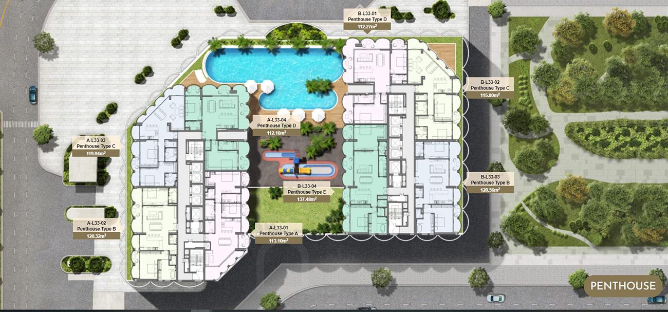 Mặt bằng dự án căn hộ chung cư Asiana Đà Nẵng chủ đầu tư Gotec Land