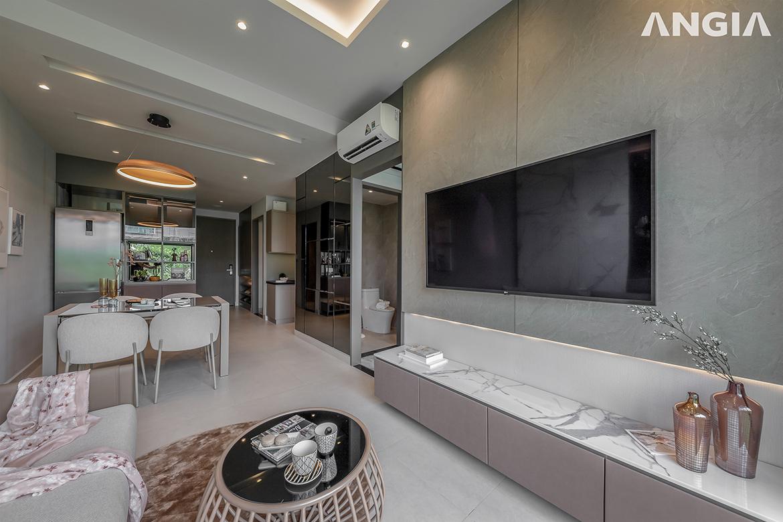 Nhà mẫu 02 phòng ngủ dự án căn hộ chung cư The Gió Riverside Bình Dương chủ đầu tư An Gia