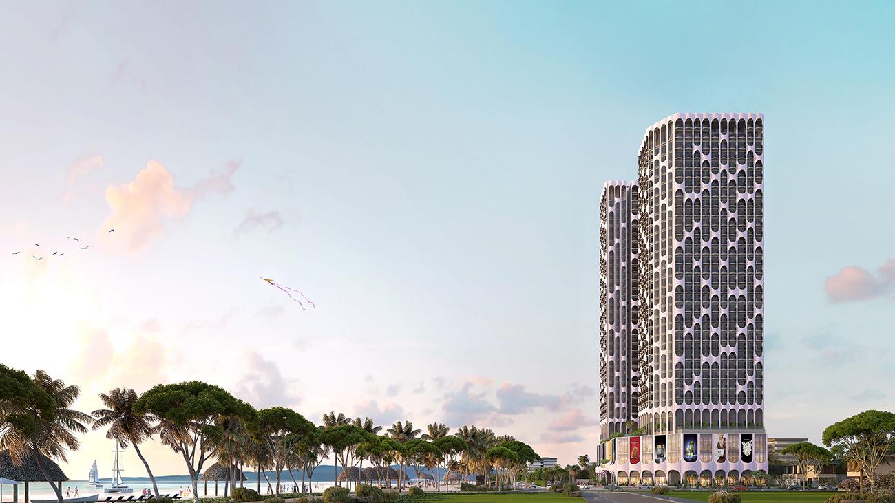Phối cảnh tổng thể dự án căn hộ chung cư Asiana Đà Nẵng chủ đầu tư Gotec Land