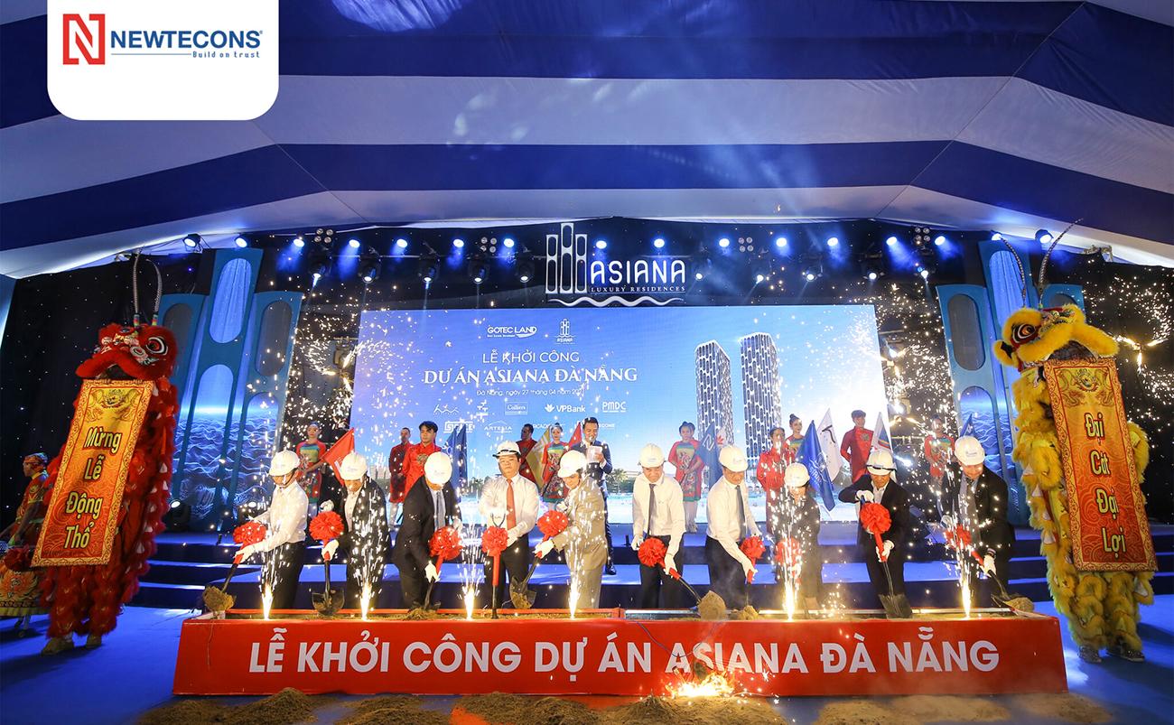 Tiến độ dự án căn hộ chung cư Asiana Đà Nẵng chủ đầu tư Gotec Land