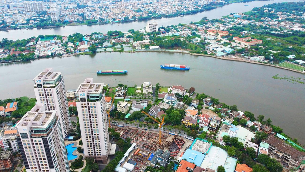 Tiến độ dự án căn hộ chung cư Thảo Điền Green Quận 2 đường Nguyễn Văn Hưởng tháng 06/2021