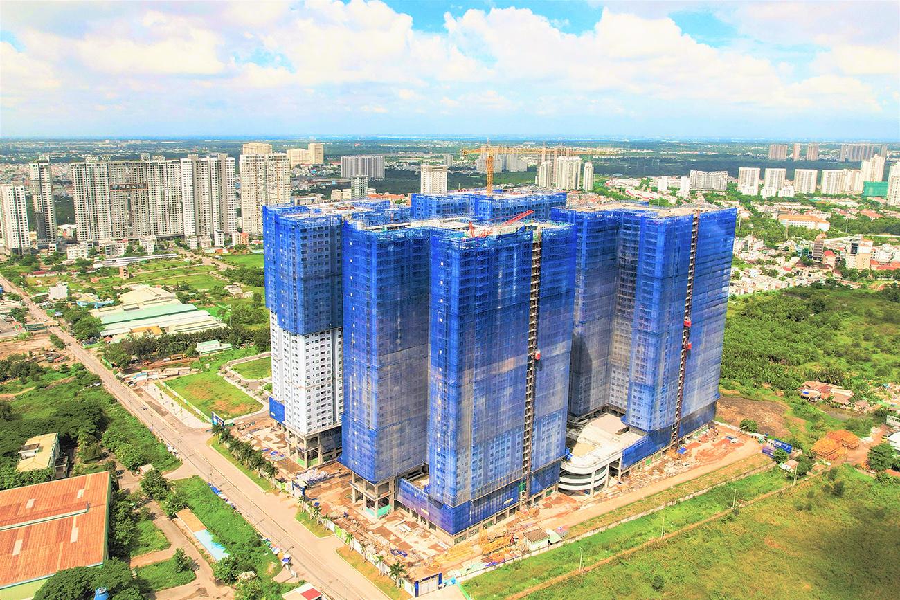 Tiến độ xây dựng dự án căn hộ chung cư Q7 Riverside Quận 7 tháng 06/2021