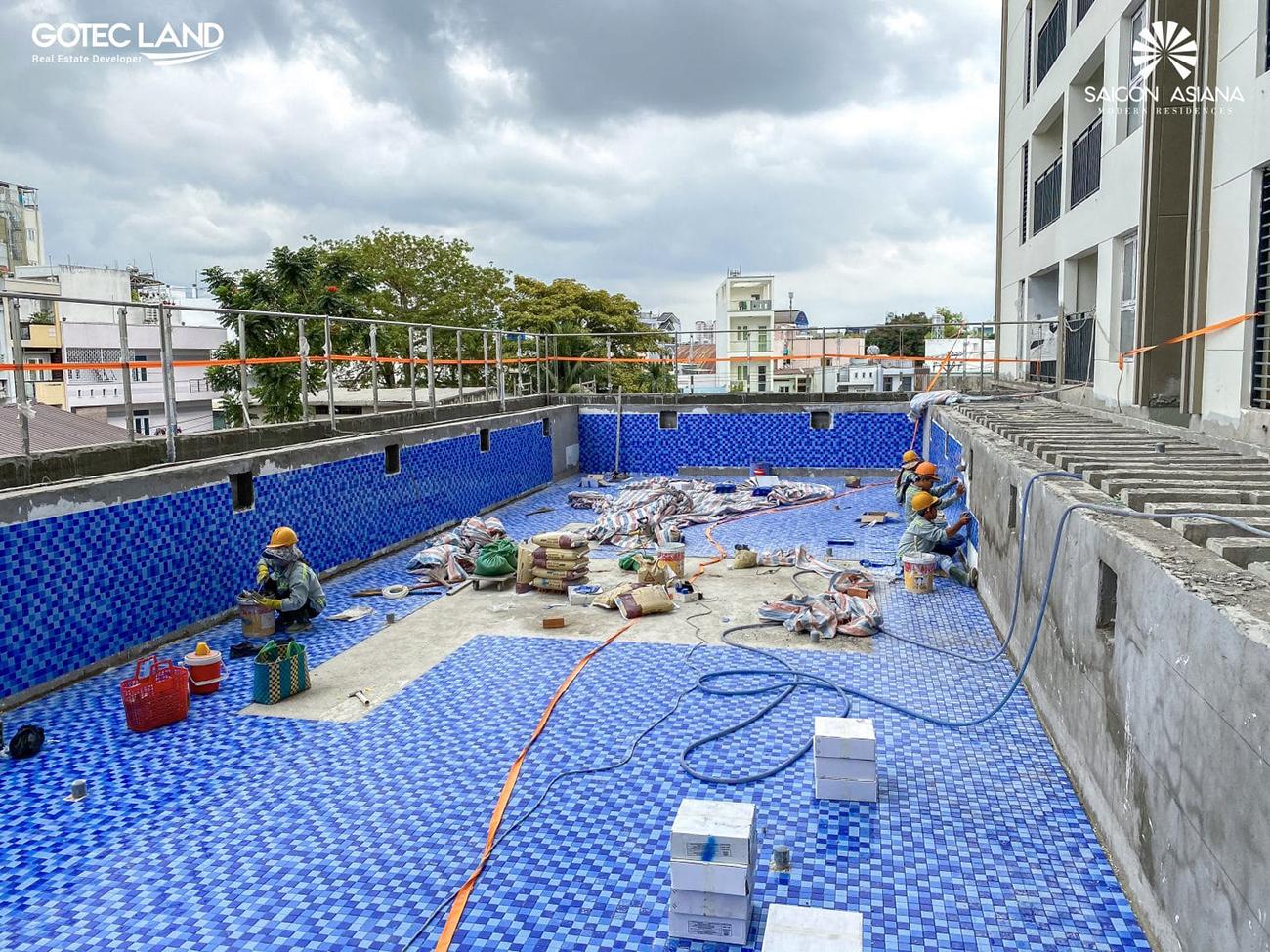 Tiến độ xây dựng dự án căn hộ Saigon Asiana Quận 6 tháng 03/2021