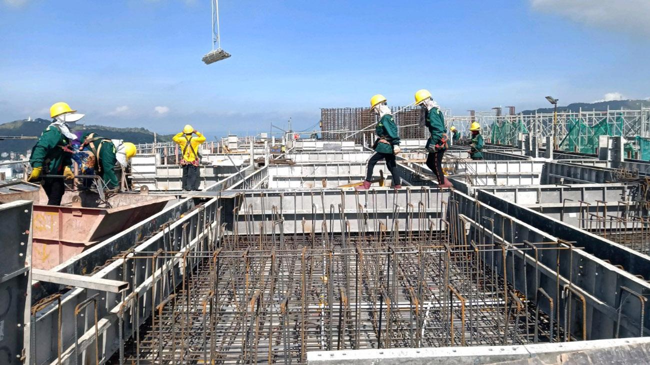 Tiến độ xây dựng dự án căn hộ The Sóng Vũng Tàu tháng 06.2021
